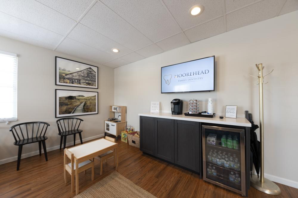 The lobby of Moorehead Family Dentistry in Batavia, OH